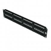 48 Port 2U IDC Patch Panel Cat 5e Black Excel (100-728)